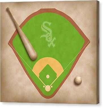 Chicago White Sox Field Canvas Print by Carl Scallop