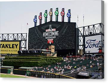 Chicago White Sox Home Coming Weekend Scoreboard Canvas Print
