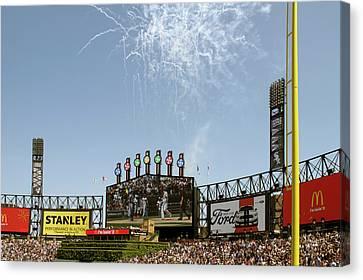 Chicago White Sox Homerun Fireworks Scoreboard Canvas Print
