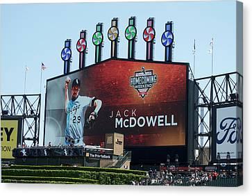 Chicago White Sox Jack Mcdowell Scoreboard Canvas Print