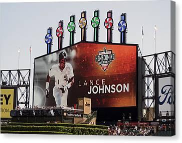Chicago White Sox Lance Johnson Scoreboard Canvas Print