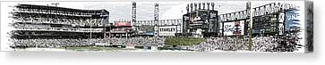 Chicago White Sox Pole To Pole Panorama 07 Pa 01 Canvas Print