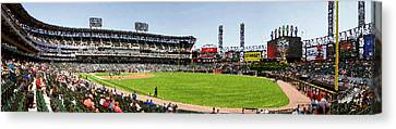 Chicago White Sox Pole To Pole Panorama 07 Pa 02 Canvas Print