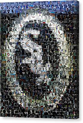 Chicago White Sox Ring Mosaic Canvas Print by Paul Van Scott