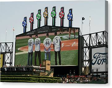Chicago White Sox Scoreboard Thank You 12 22 44 3 Canvas Print
