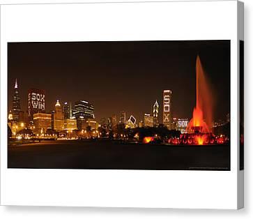 Chicago White Sox Skyline Canvas Print