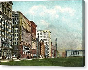 Chicago's Michigan Avenue Looking North From Congress Canvas Print