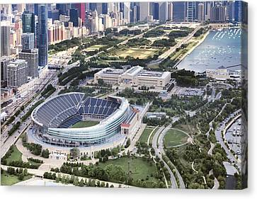 Chicago's Soldier Field Canvas Print by Adam Romanowicz