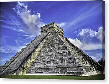 Canvas Print featuring the photograph Chichen Itza, El Castillo Pyramid by Jason Moynihan