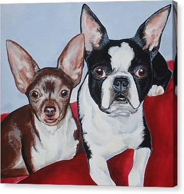 Chichi And Lulu Canvas Print