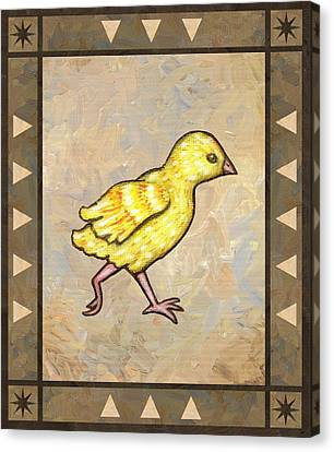 Chick Four Canvas Print by Linda Mears