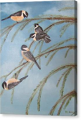 Chickadee Party Canvas Print