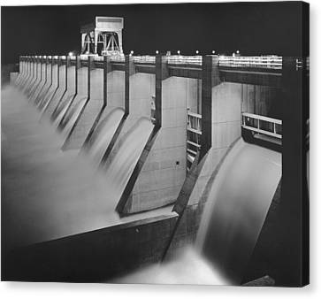Chickamauga Dam, Built By The Tennessee Canvas Print by Everett