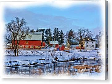 Bales Canvas Print - Chickasaw Winter Painted by Bonfire Photography