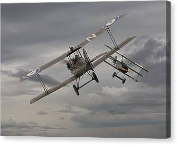 Chicken  - 1 Se5 And Fokker Dr1 Canvas Print