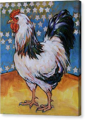 Chicken And Stars Canvas Print