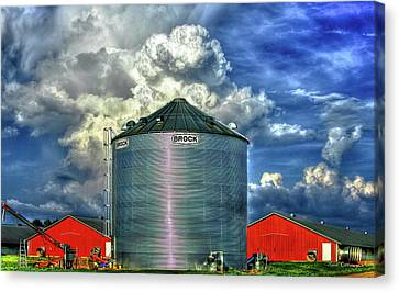 Chicken Feed Other Worldly Sky Art Canvas Print by Reid Callaway