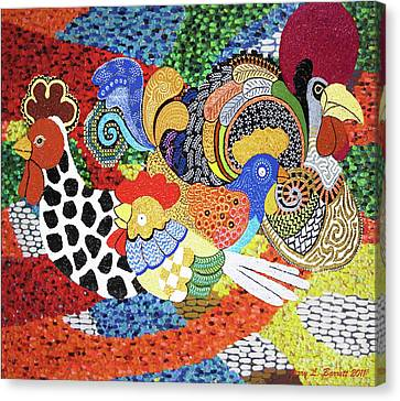 Chickens Canvas Print by Jerry L Barrett