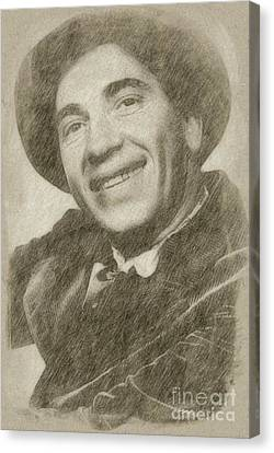 Noir Canvas Print - Chico Marx, Comedian And Actor by Frank Falcon