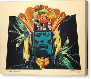Chief Abundant Canvas Print by Charles Mendez