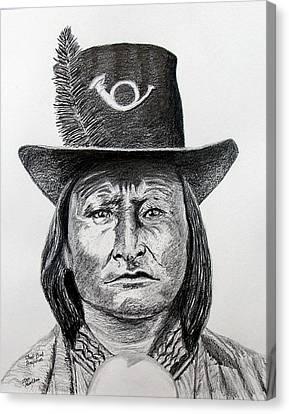 Chief Bird-arapahoe Canvas Print by Stan Hamilton