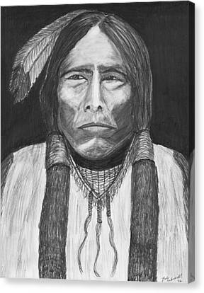 Chief Crazy Horse Canvas Print by Bob Schmidt