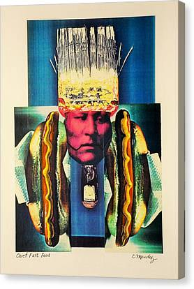 Chief Fast Food Canvas Print by Charles Mendez
