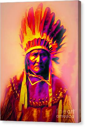 Chief Geronimo 20151228 Canvas Print by Wingsdomain Art and Photography