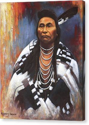 Chief Joseph Canvas Print by Harvie Brown