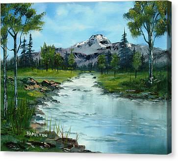 Chief Joseph Ranch Montana Canvas Print by Larry Hamilton