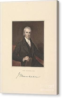 Chief Justice John Marshall Canvas Print by Asher Brown Durand