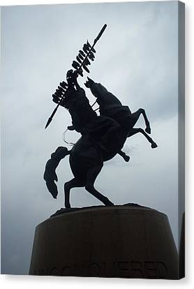 Chief Osceola Statue Canvas Print by Warren Thompson