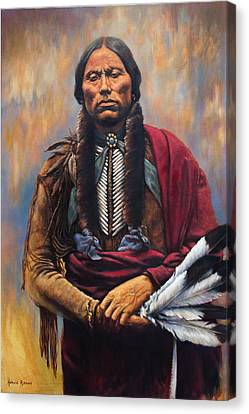 Chief Quanah Canvas Print by Harvie Brown
