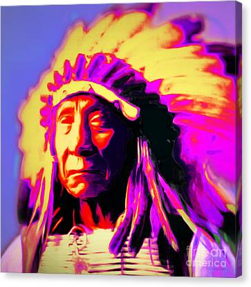 Chief Red Cloud 20151230 Square Canvas Print