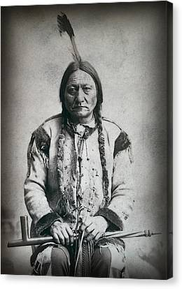 Chief Sitting Bull 1884 Canvas Print by Daniel Hagerman