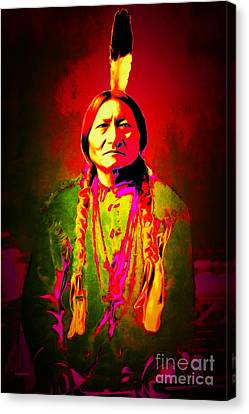 Chief Sitting Bull 20151228 Canvas Print by Wingsdomain Art and Photography