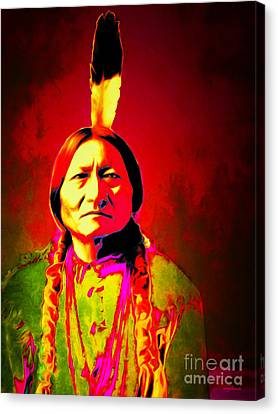 Chief Sitting Bull 20151228v2 Canvas Print by Wingsdomain Art and Photography