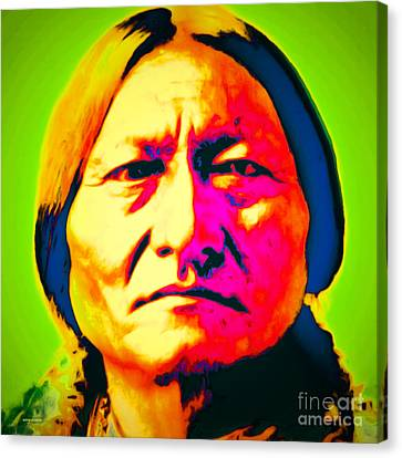 Chief Sitting Bull 20151230 Canvas Print by Wingsdomain Art and Photography