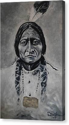 Chief Sitting Bull Canvas Print by Eddie Lim