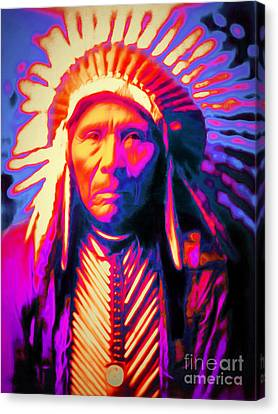 Chief Three Horses 20151231 Canvas Print