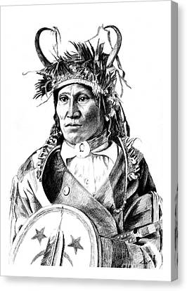 Chief Wets It Canvas Print by Toon De Zwart