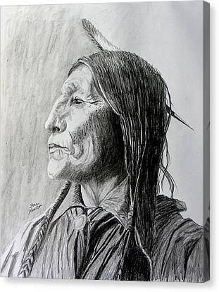Chief Wolf Robe Canvas Print by Stan Hamilton