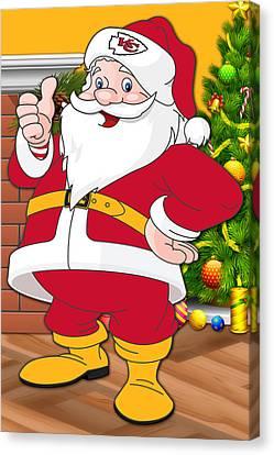 Chiefs Santa Claus Canvas Print by Joe Hamilton