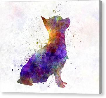 Chihuahua 01 In Watercolor Canvas Print by Pablo Romero