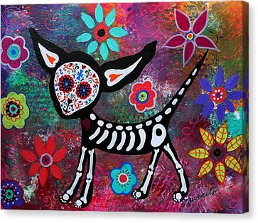 Chihuahua Dia De Los Muertos Canvas Print