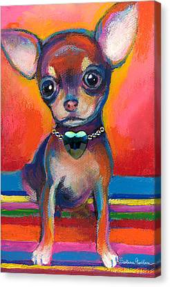 Chihuahua Dog Portrait Canvas Print by Svetlana Novikova
