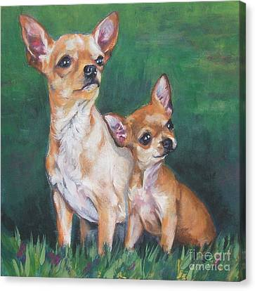 Chihuahua Mom And Pup Canvas Print