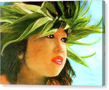 Child Keiki In Hawaiian No# 84 Canvas Print by Donald k Hall
