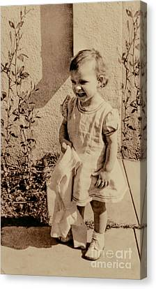 Canvas Print featuring the photograph Child Of 1940s by Linda Phelps