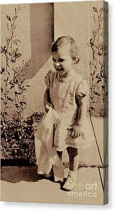 Canvas Print featuring the photograph Child Of  The 1940s by Linda Phelps